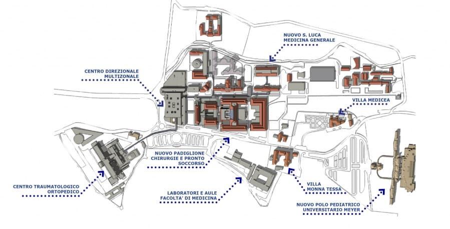 Cartina Ospedale Careggi Firenze.Cspe Progetti Cronologico
